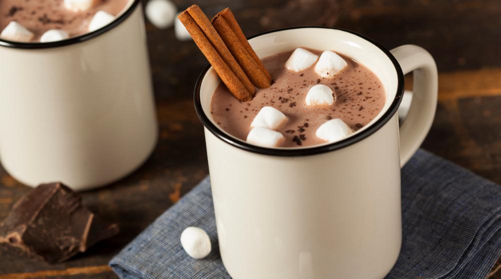 Varm choklad smak av kanel.