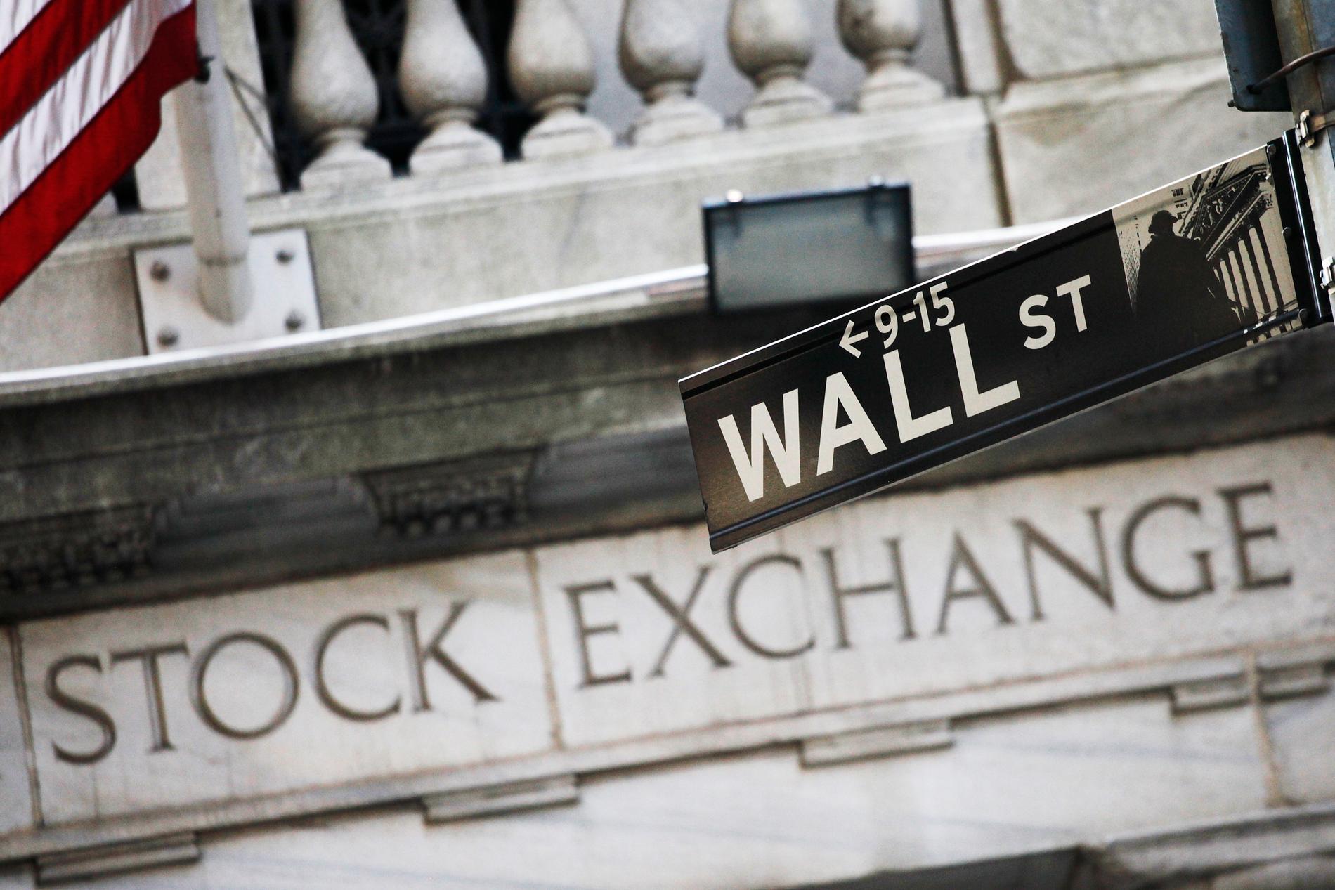 Nasdaq steg på Wall Street på onsdagen, medan de andra stora indexen gick ned något. Arkivbild,