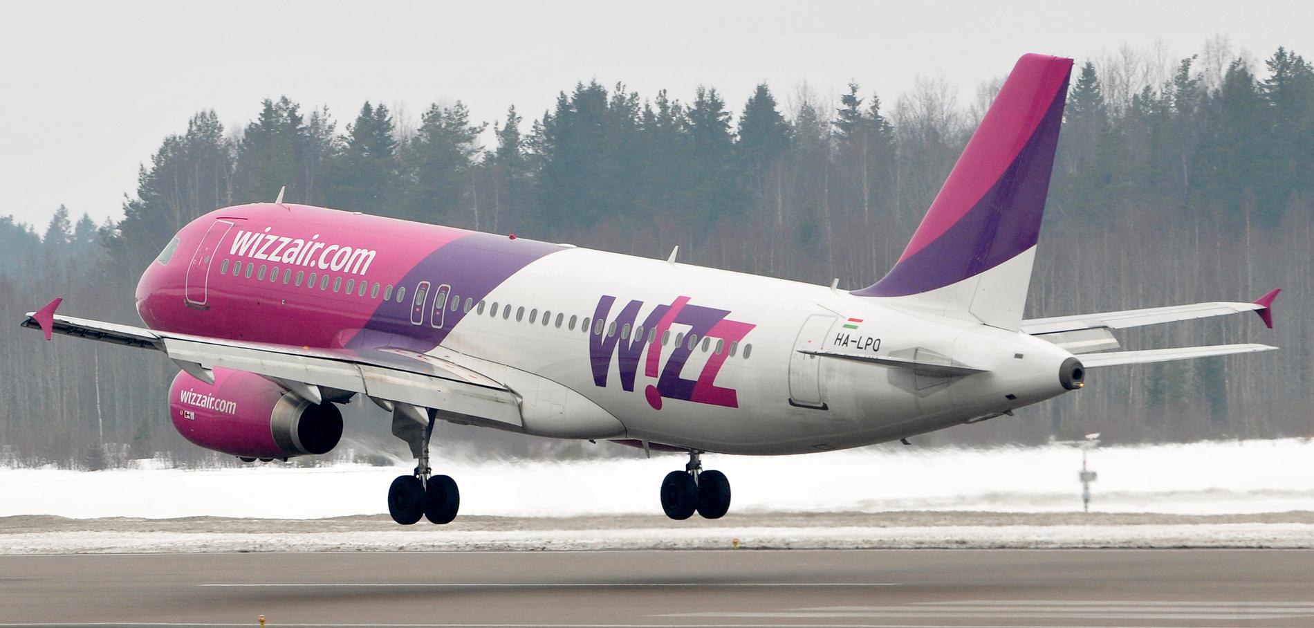 """Flygbolaget Wizz Air toppar återigen den så kallade """"svarta listan"""". Arkivbild."""