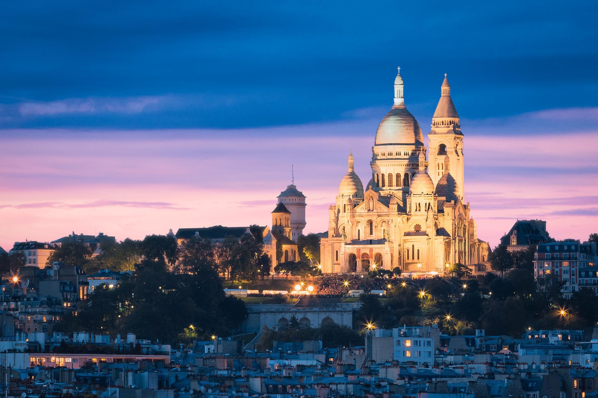 Den som vill ha en bra utsikt över Paris kan med fördel ta sig till Sacré-Cœur.