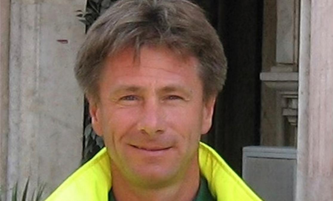 Magnus Simonsson på krisledningen i Skåne.
