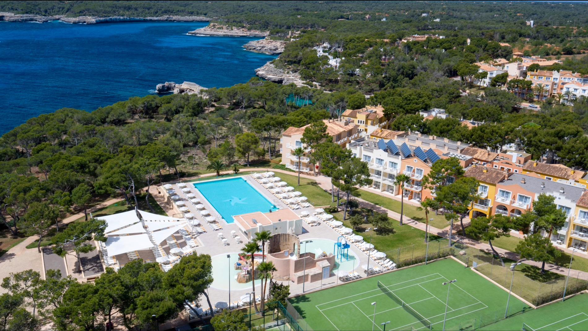 """Club Cala Barca"" på Mallorca."