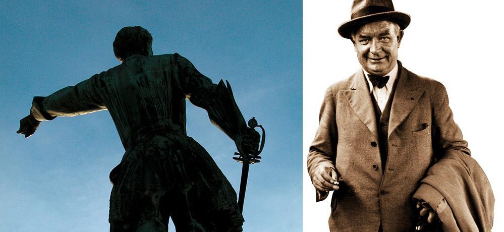 Karl XII och Per Albin Hansson.