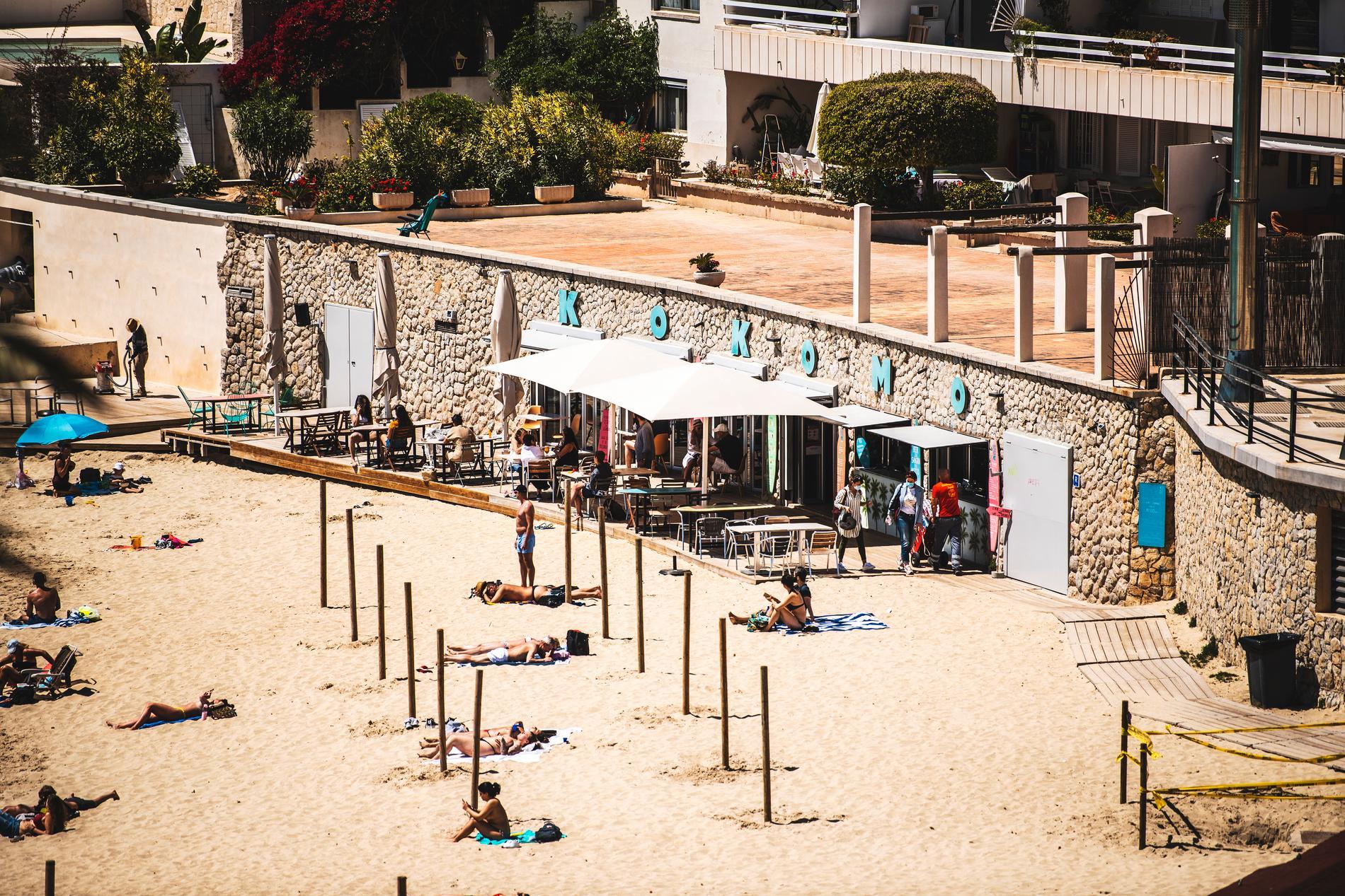 Stranden i Cala Major, Palma, Mallorca, Spanien.
