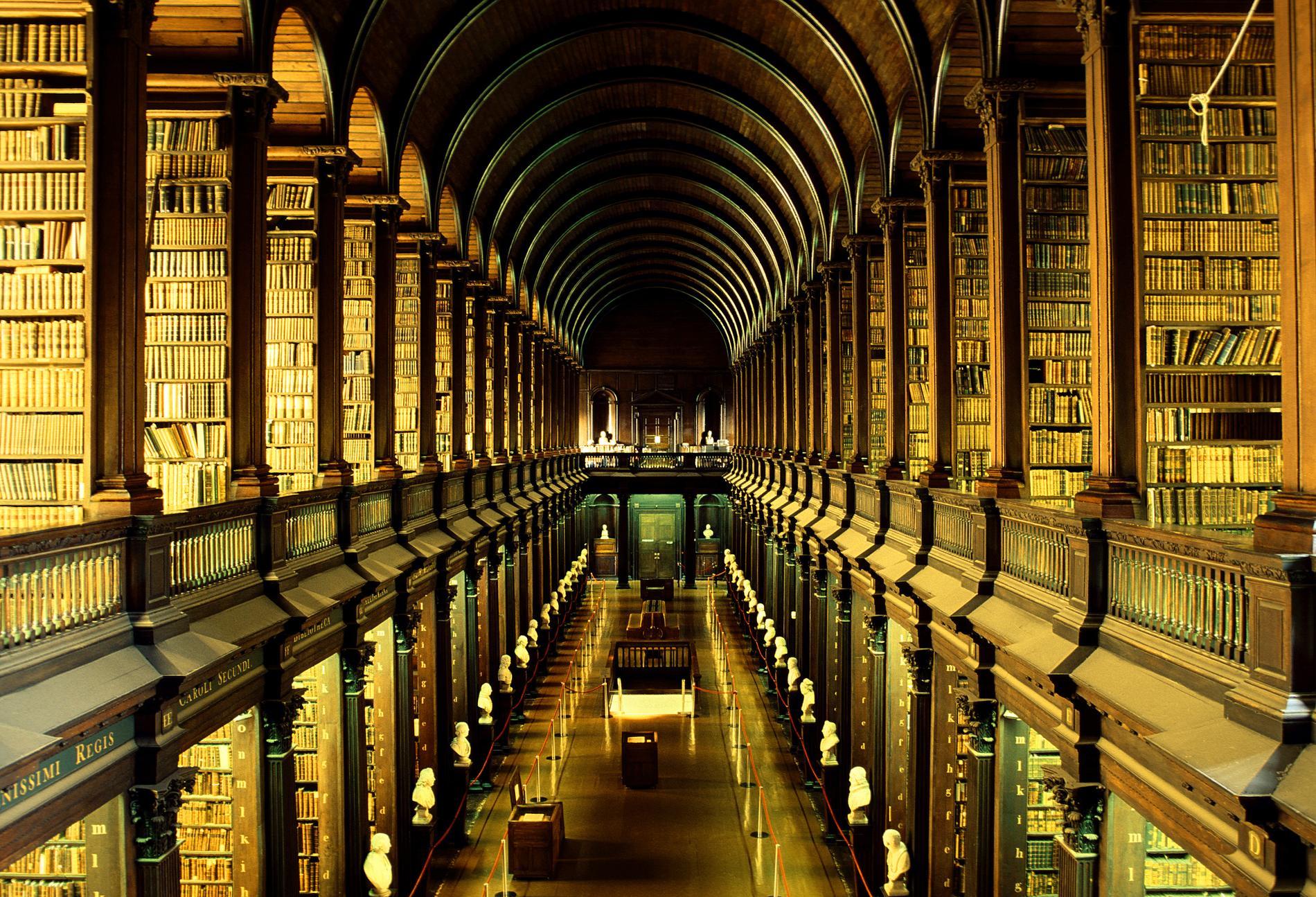 Känner du igen Trinity collages bibliotek? Många menar att det liknar Jediarkivet i Star Wars.