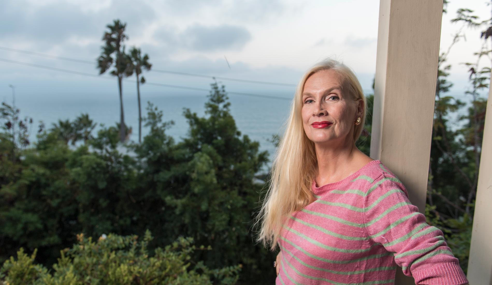 Gunilla Persson i sitt hem i Los Angeles.