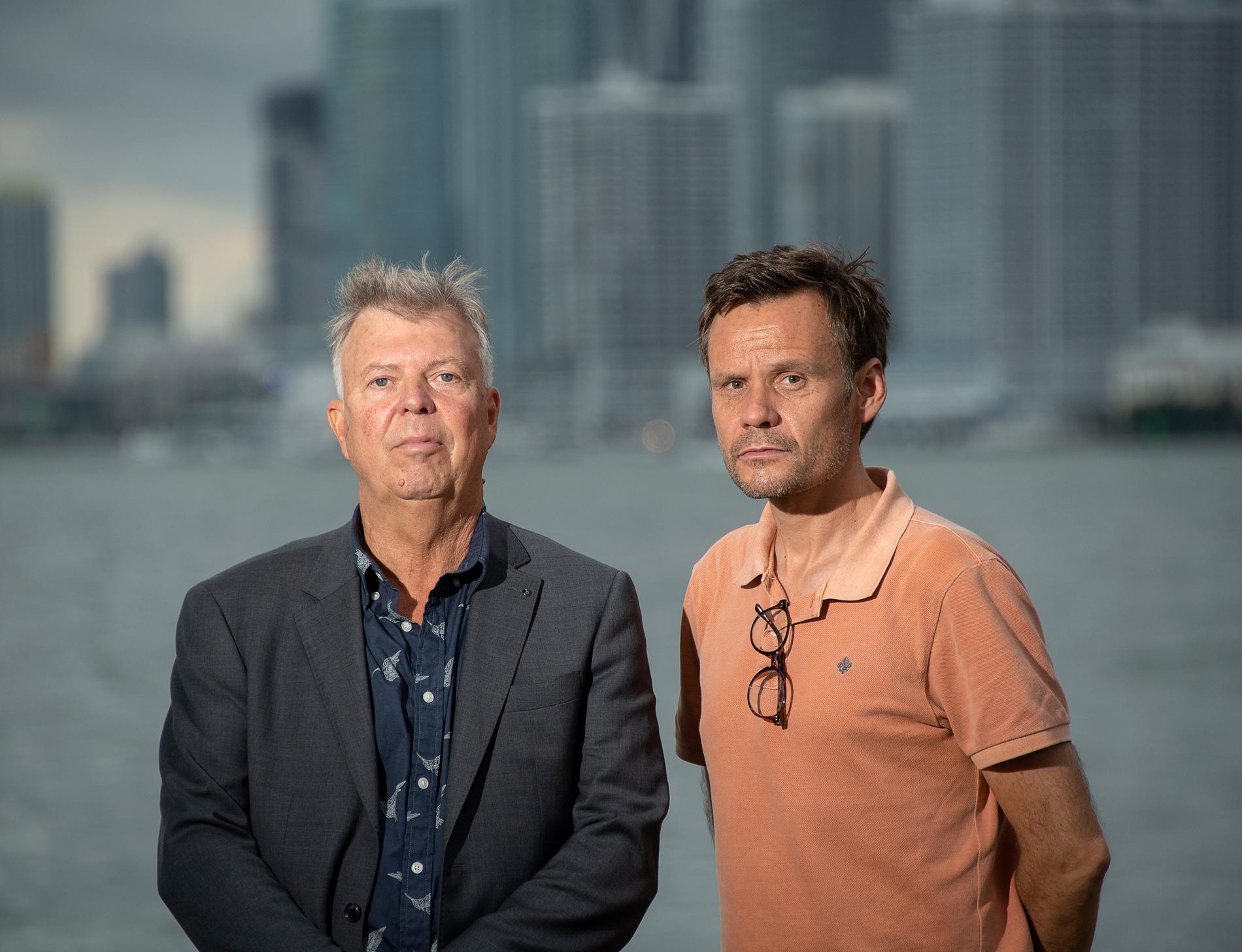 Aftonbladets Wolfgang Hansson och Jerker Ivarsson.