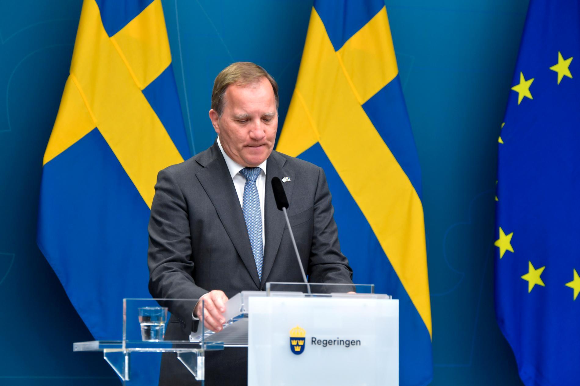 Stefan Löfven (S) efter misstroendeomröstningen under måndagen.