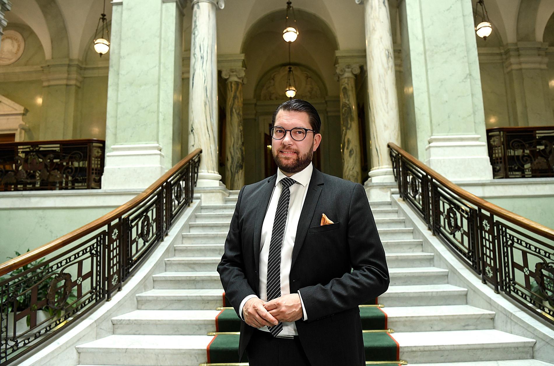 """Jimmie Åkesson säger i en intervju med Göteborgs-Posten att """"prio ett"""" för Sverigedemokraterna är att leda en regering."""