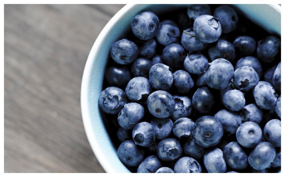 Blåbär är fullproppade med antioxidanter.