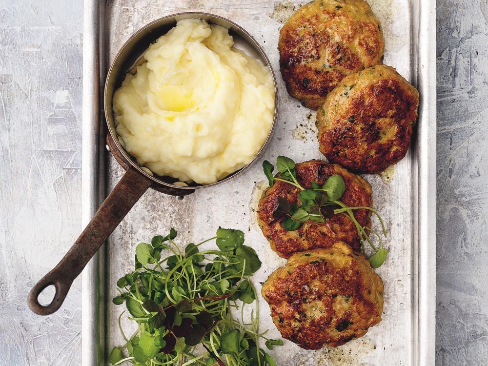 Kycklingbiffar med potatismos.