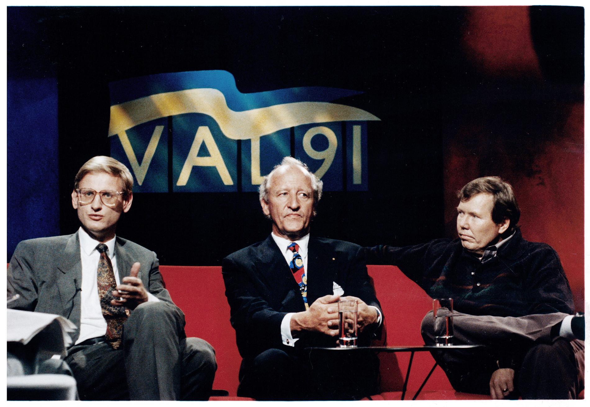 Ian Wachtmeisters och Bert Karlssons Ny Demokrati fick en vågmästarroll i riksdagen efter valet 1991. Carl Bildt (M) gjorde misstaget att stötta sig mot dem när han bildade regering.
