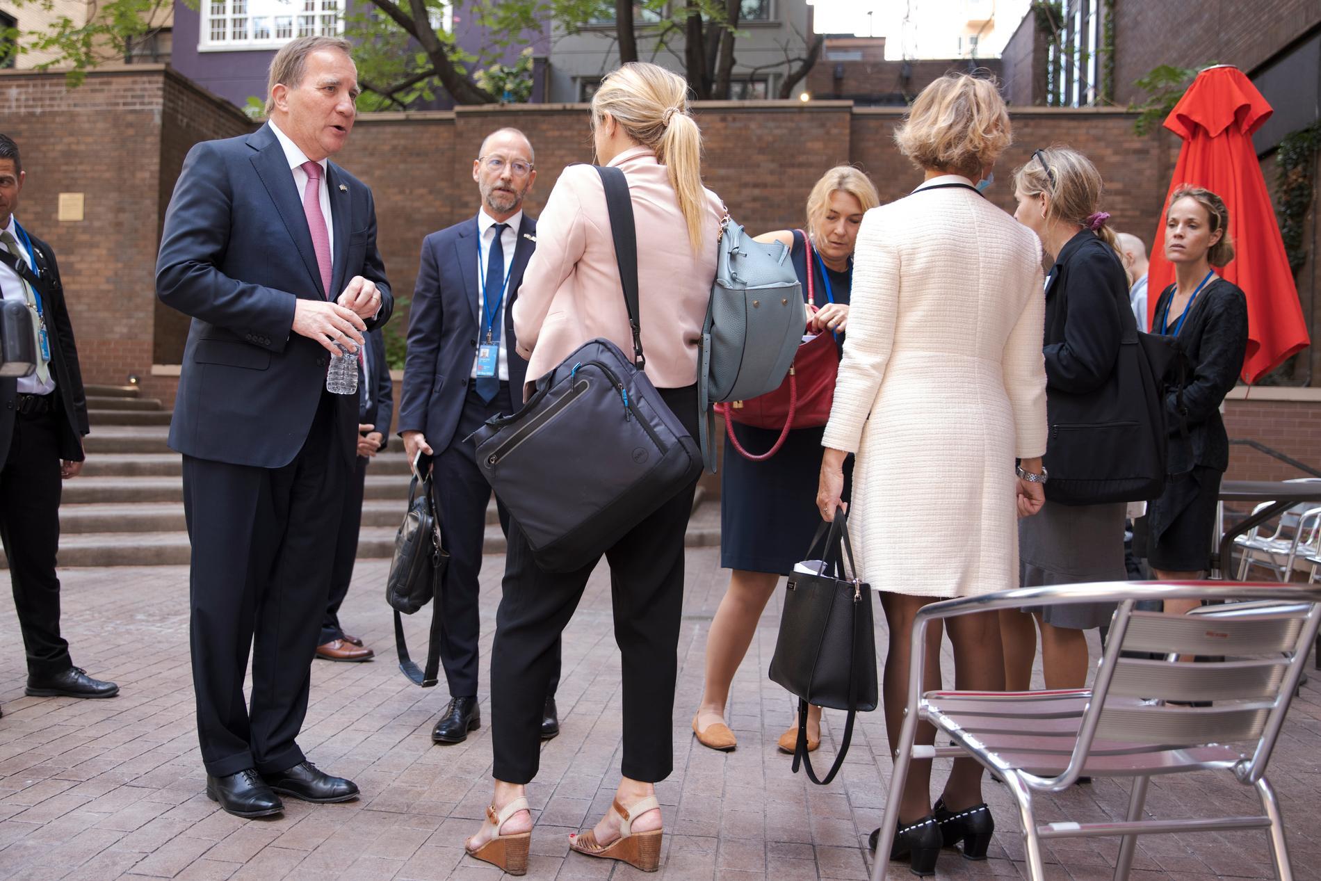 Stefan Löfven på sitt sista FN-möte som statsminister.