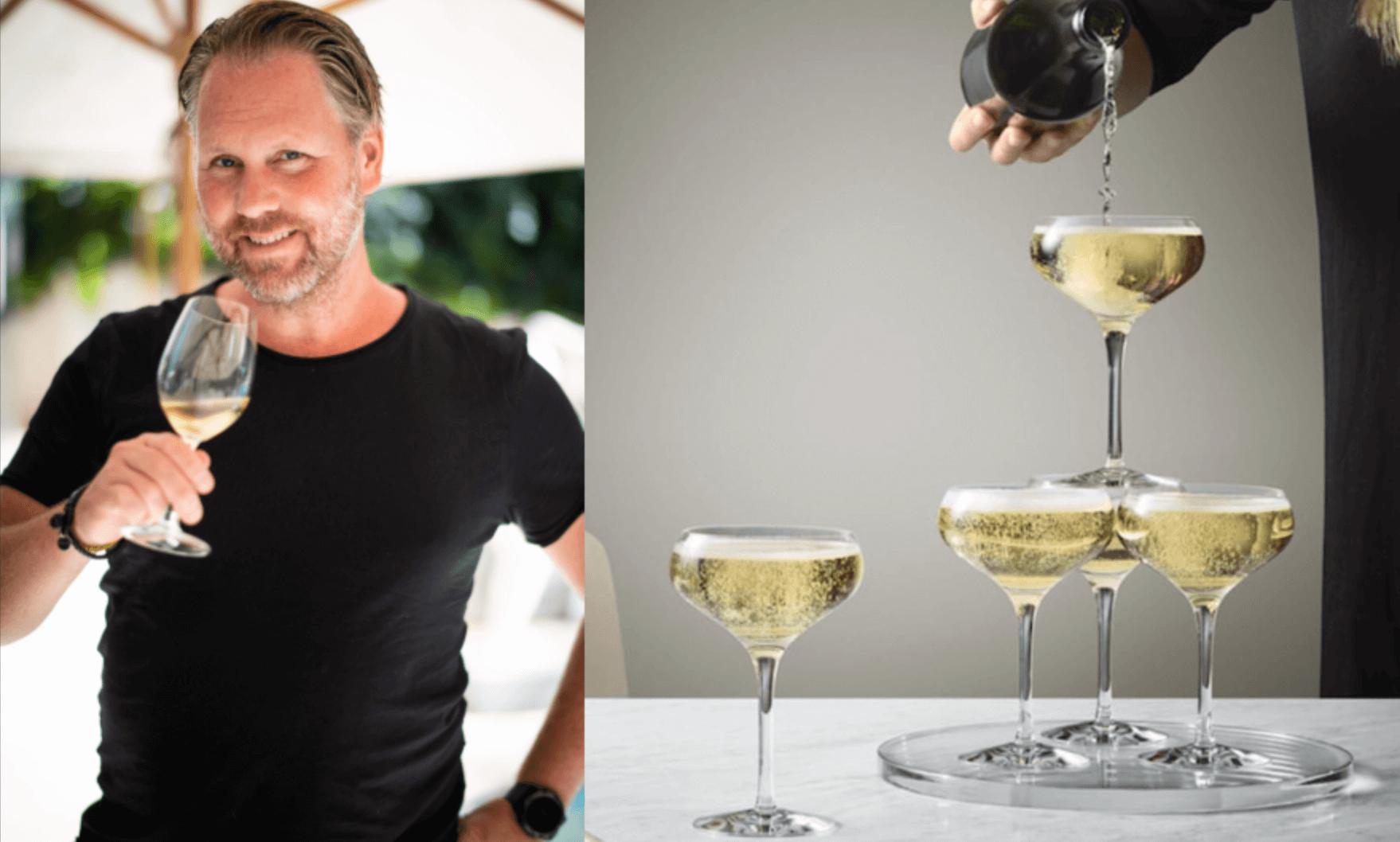 Fredrik Schelin tipsar om champagneglas.