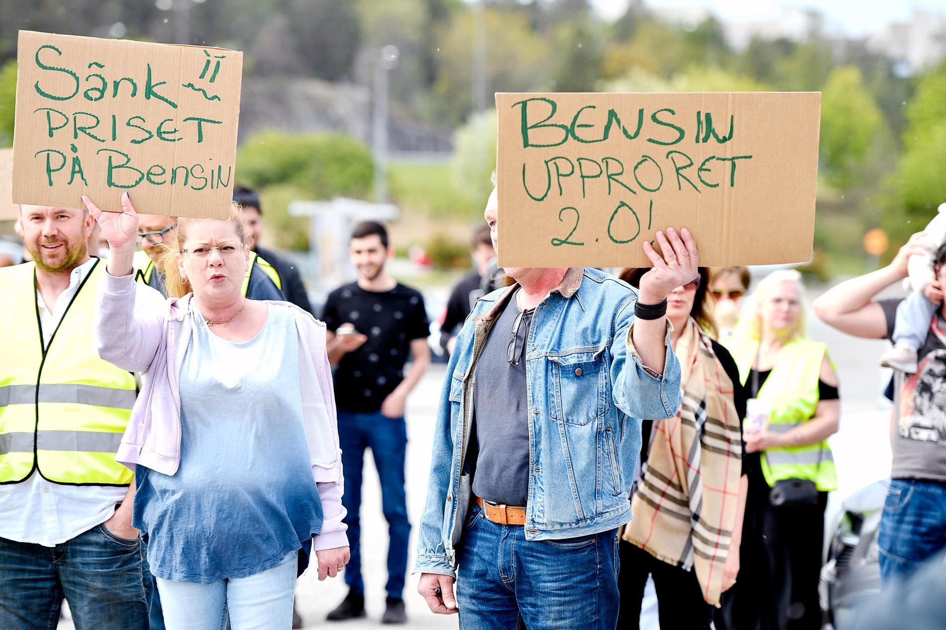 Bensinupproret 2.0 demonstrerar i Barkaby i maj.