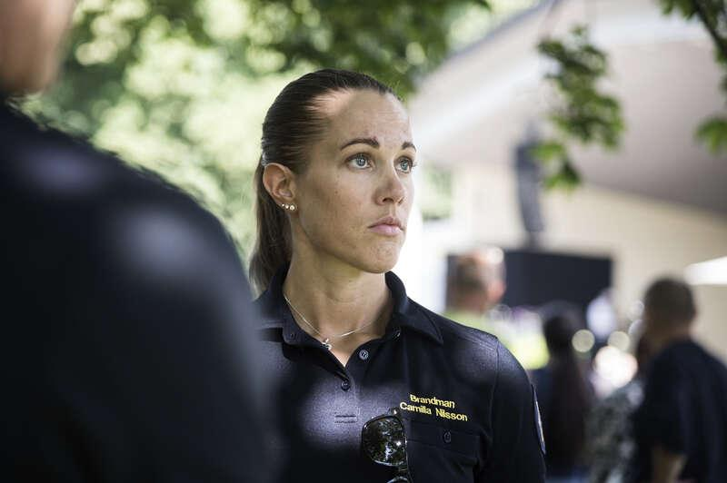 Camilla Nilsson på Nerikes brandkår.