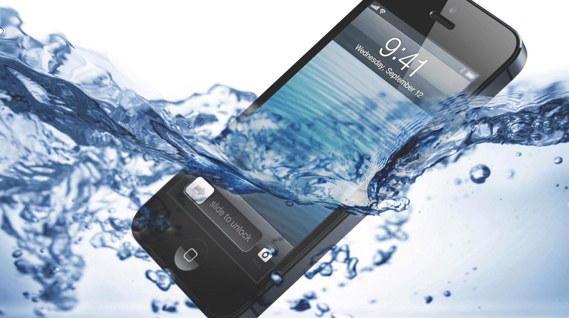 Nästa Iphone kommer tåla vatten.