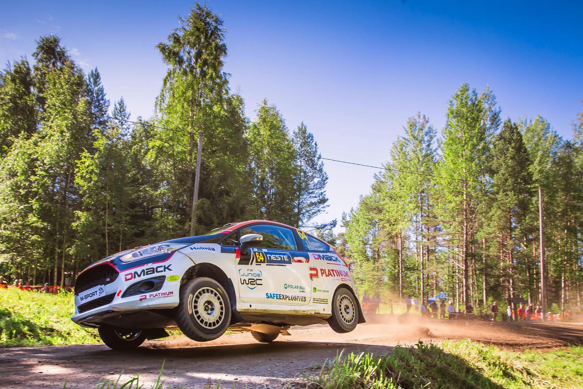 Dennis Rådström tog en pallplats i Finlands VM-rally