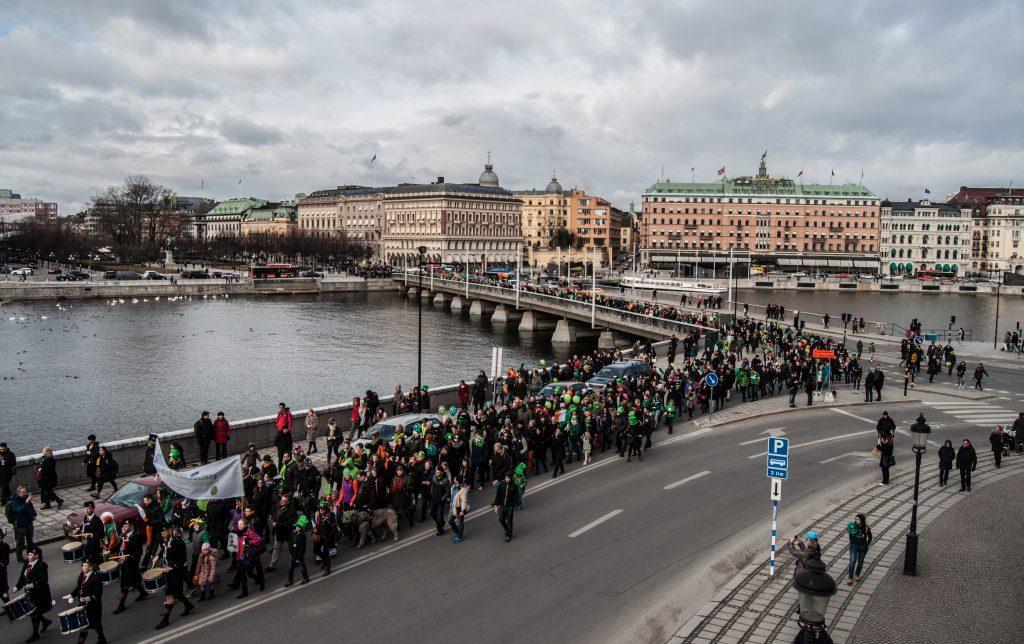 Parad i Stockholm.