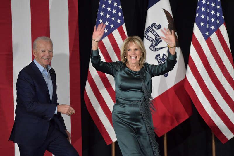 Joe Biden och hans hustru Jill Biden.