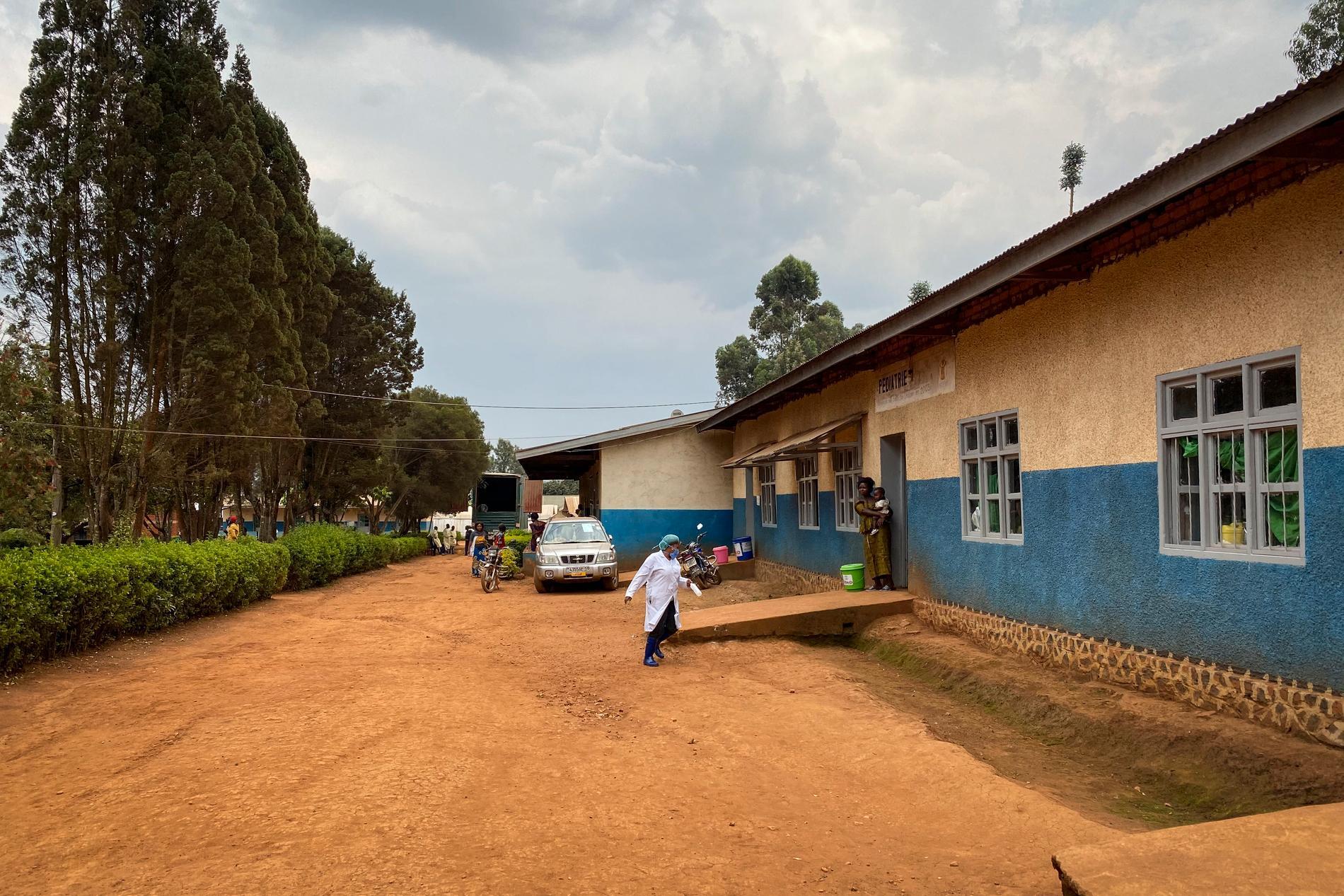 Sjukhus i Kongo-Kinshasa som är redo att ta emot ebolapatienter. Arkivbild.