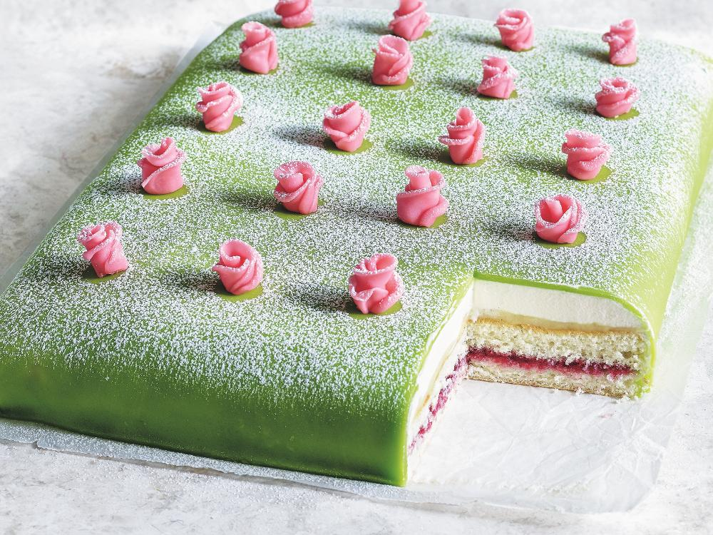 Prinsesstårta i långpanna