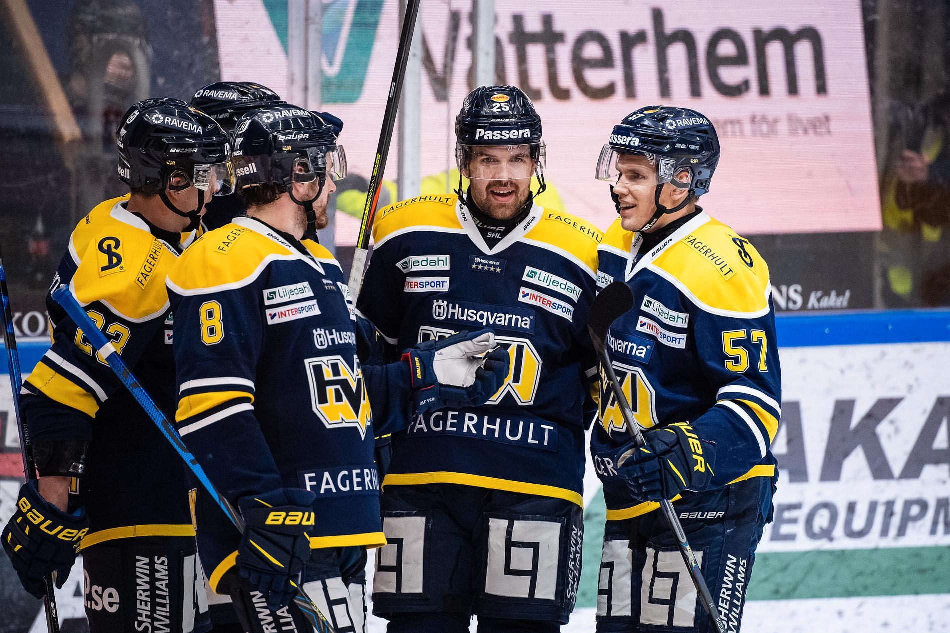 HV71 laddade på spa inför playout mot Brynäs.