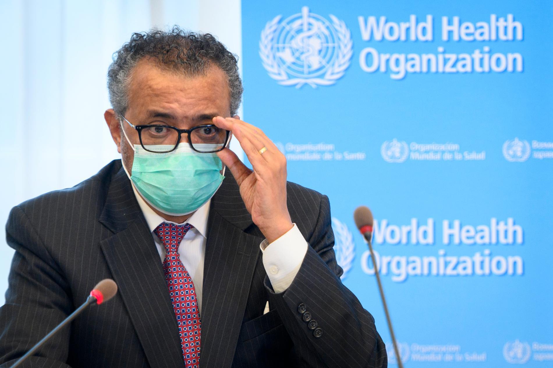 Världshälsoorganisationens (WHO) generalsekreterare Tedros Adhanom Ghebreyesus. Arkivbild.