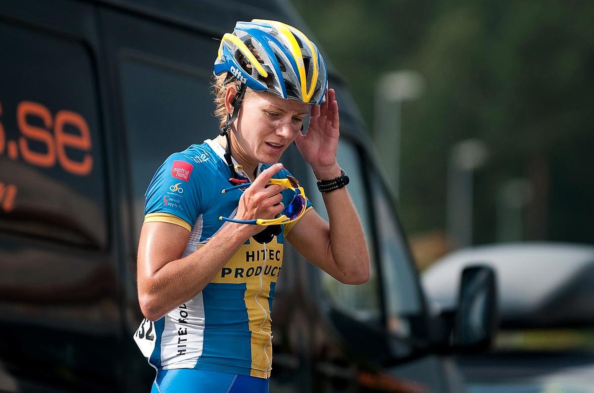 Rejäl smäll Emma Johansson krockade med en mötande bil under ett träningspass på Gran Canaria.