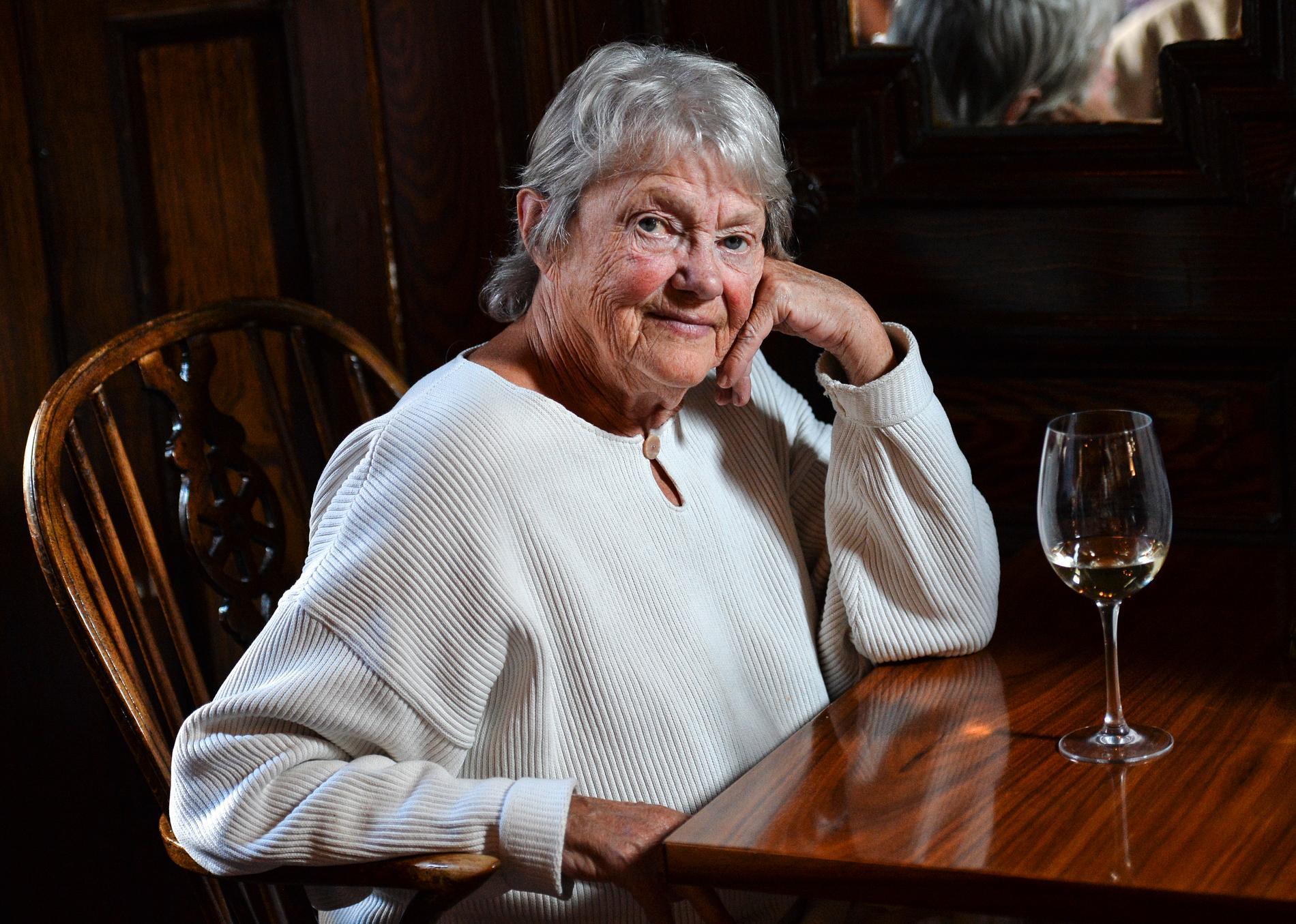 Maj Sjöwall, porträtterad i Malmö år 2015, inför hennes 80-årsdag.
