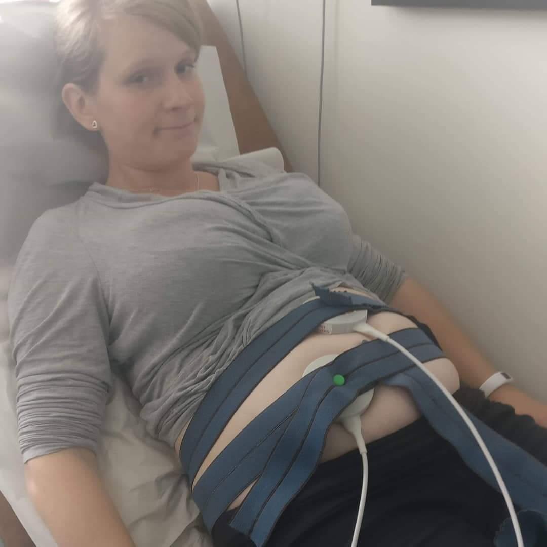 Matilda åkte in till Södersjukhuset när hon kände värkar.