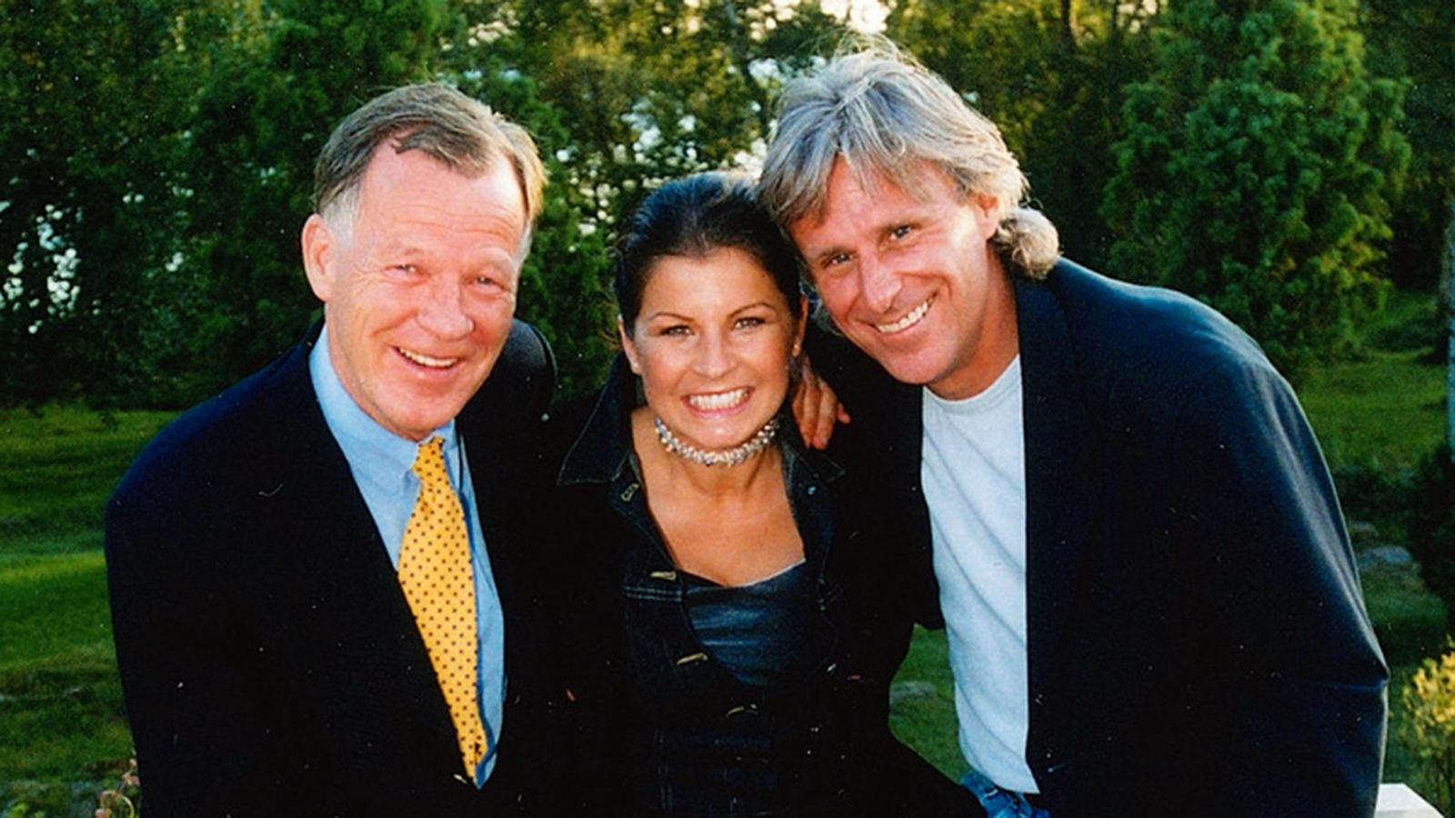 Anders Wiklöfs födelsedagskalas är en tradition. Här med Björn Borg och Carola en del år sedan.