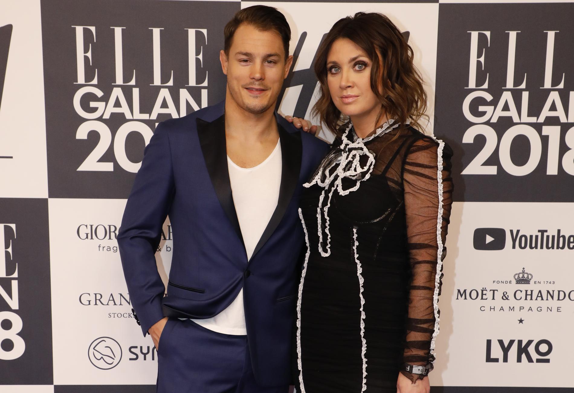 Camilla Läckberg med maken Simon Sköld.