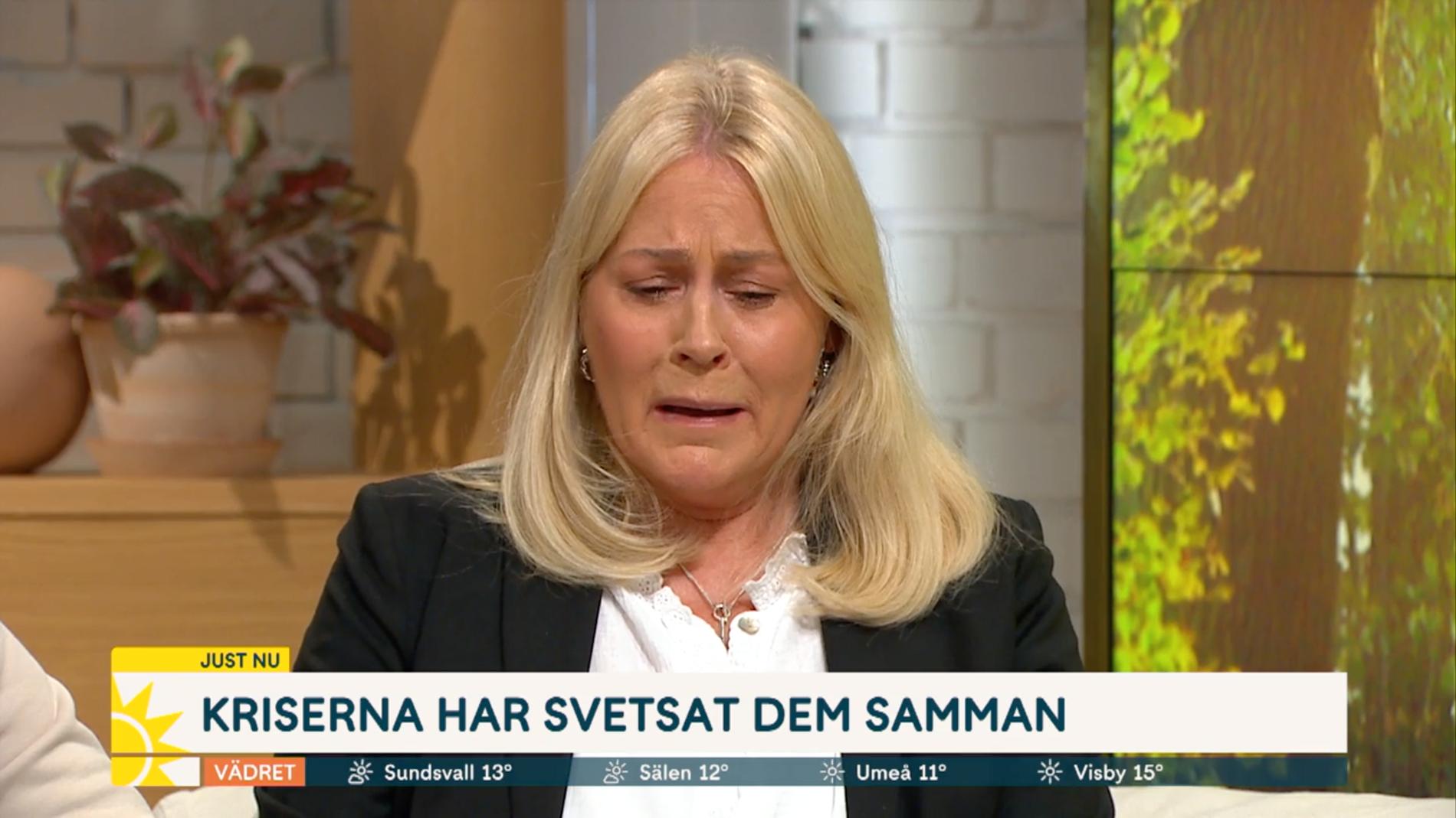 Skådespelerskan Nina Gunke, 66, berättar i Nyhetsmorgon i TV4 om sitt sjukdomsbesked.