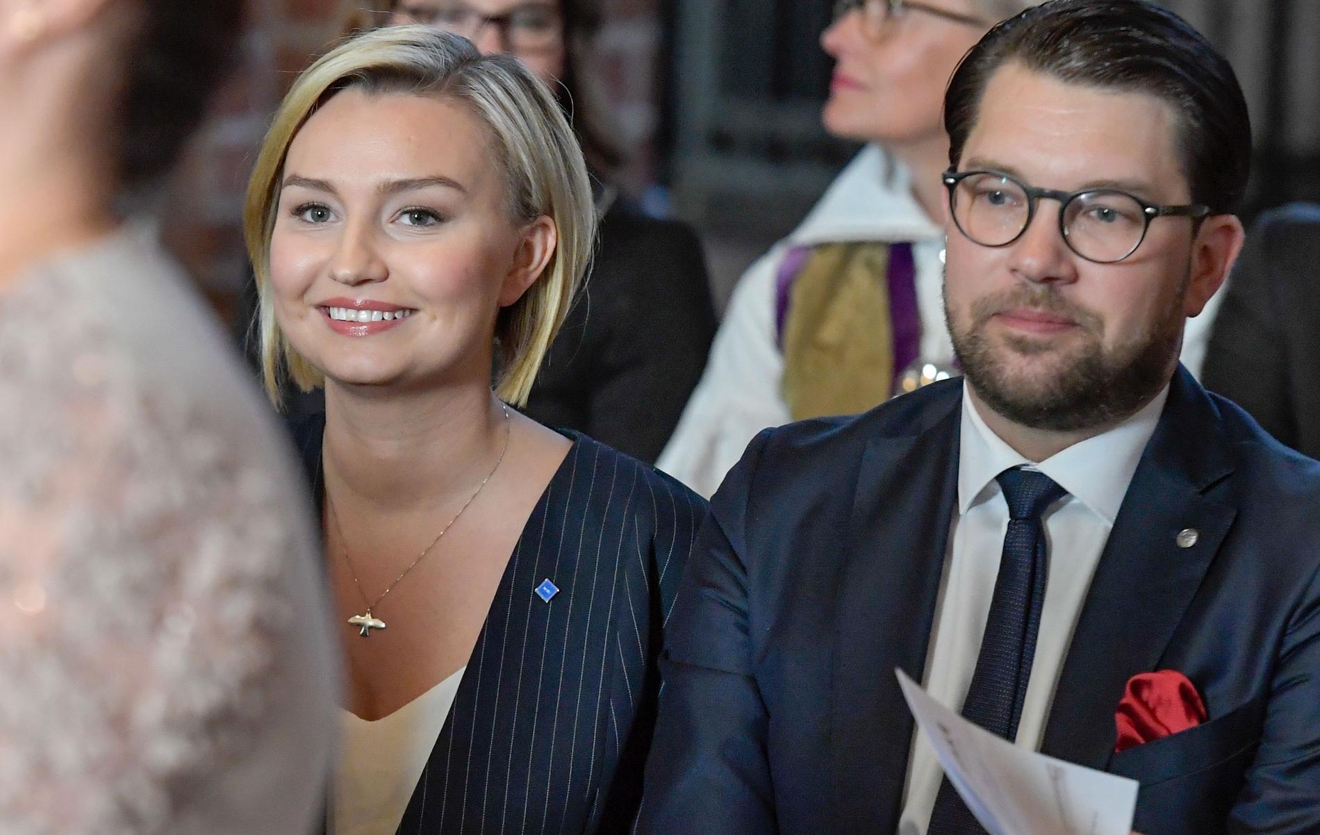 Ebba Busch Thor (KD) och Jimmie Åkesson (SD).