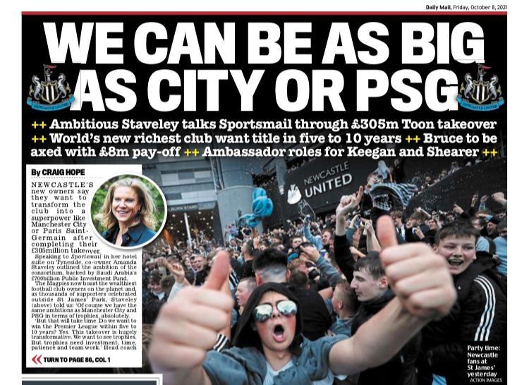 Daily Mails sportetta.