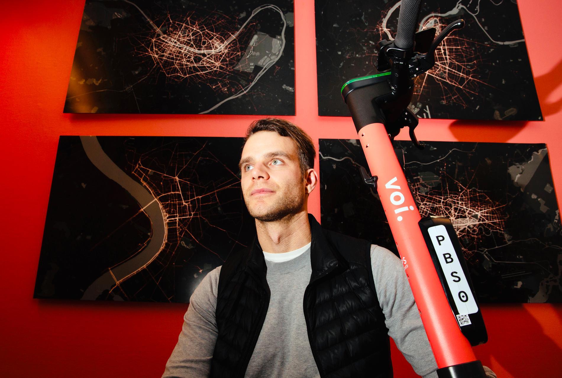 Voi Technologies vd och medgrundare Fredrik Hjelm.