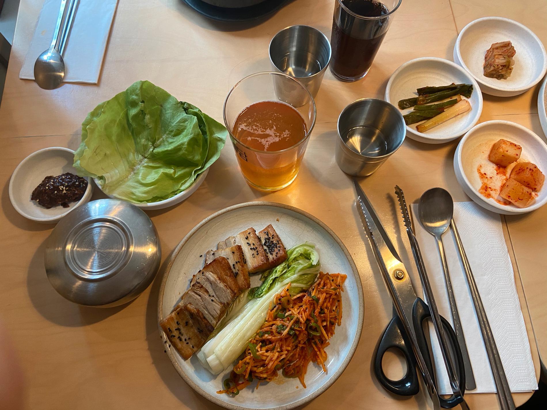 Bo ssam – koreansk wrap med fläsk på Madam.