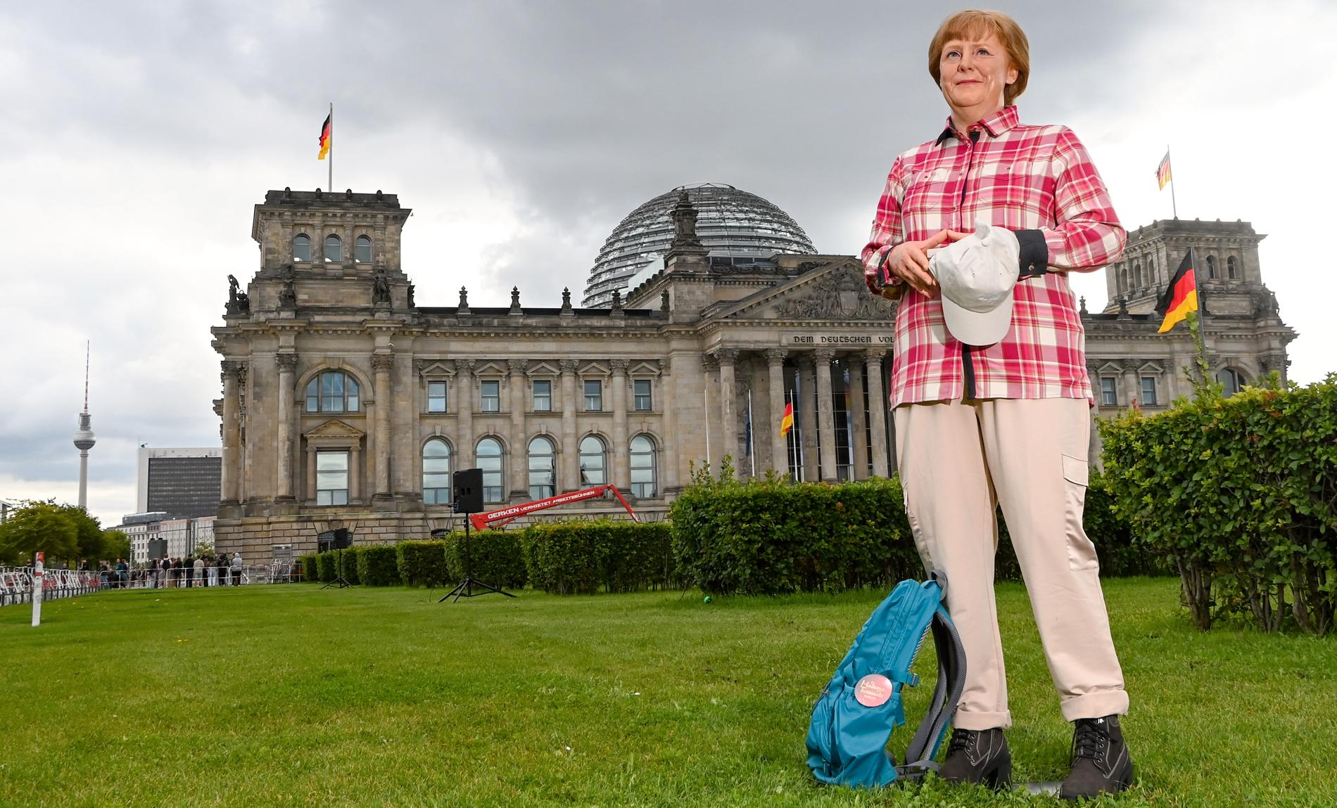 Angela Merkel som vaxdocka.