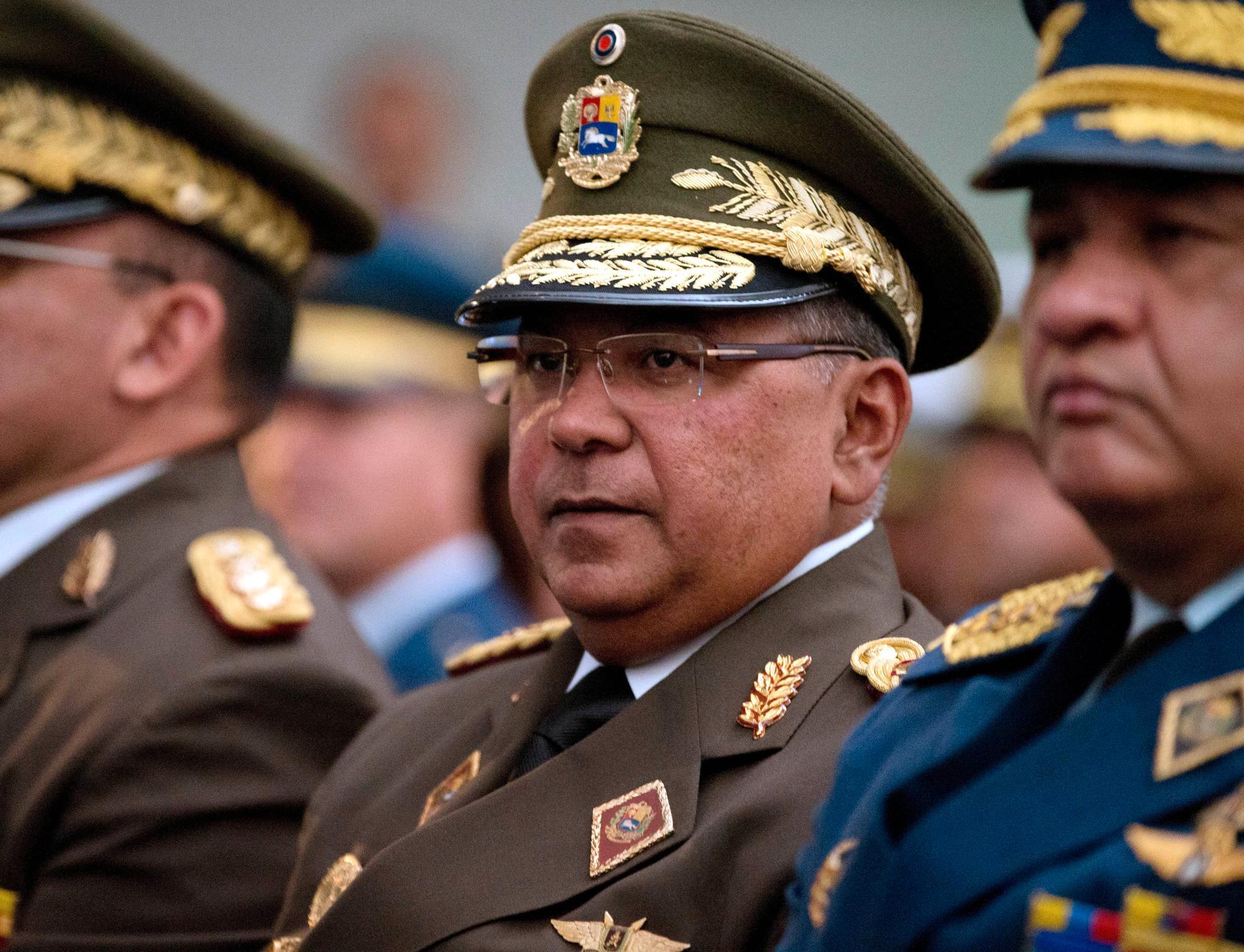 Venezuelas inrikesminister Néstor Reverol säger att ett colombianskt försök att störta president Nicolás Maduro har stoppats. Arkivbild.