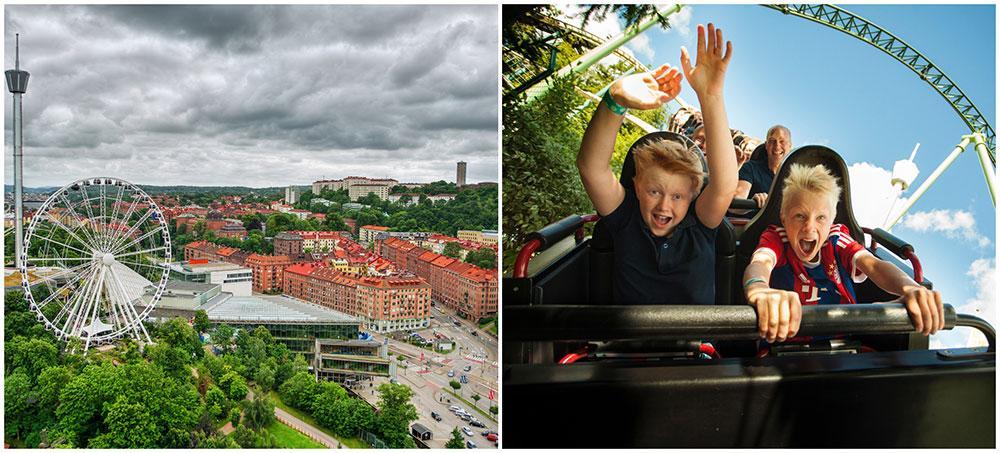 Ta med barnen till Liseberg och tillbringa dagen i karuseller och häftiga åkattraktioner.