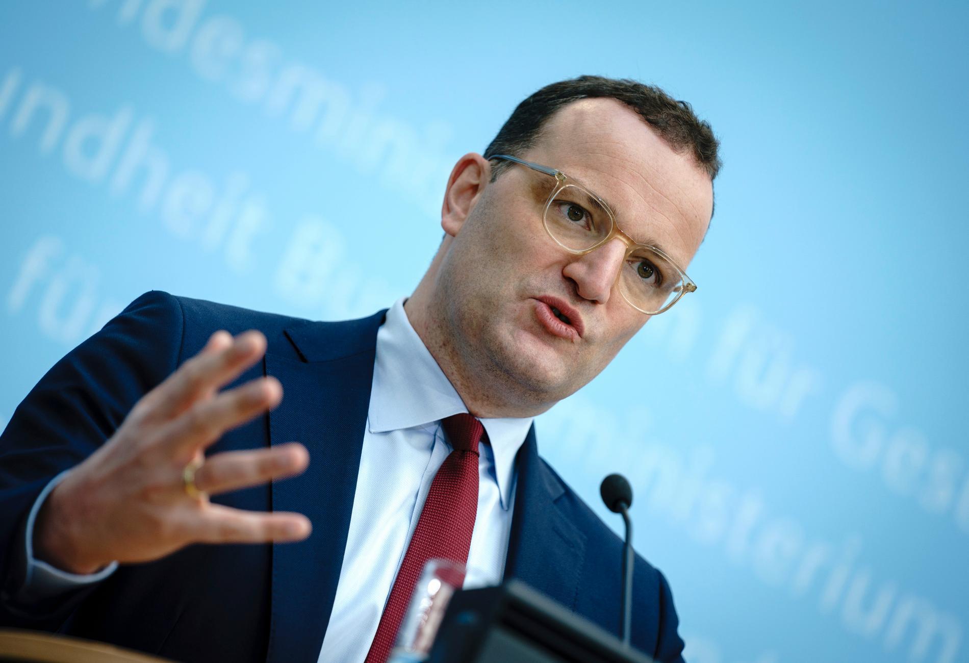 Tysklands hälsominister Jens Spahn. Arkivbild