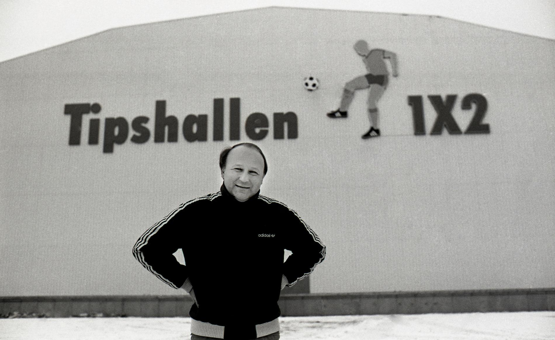Lars-Åke Lagrell utanför Tipshallen i Jönköping 1984.