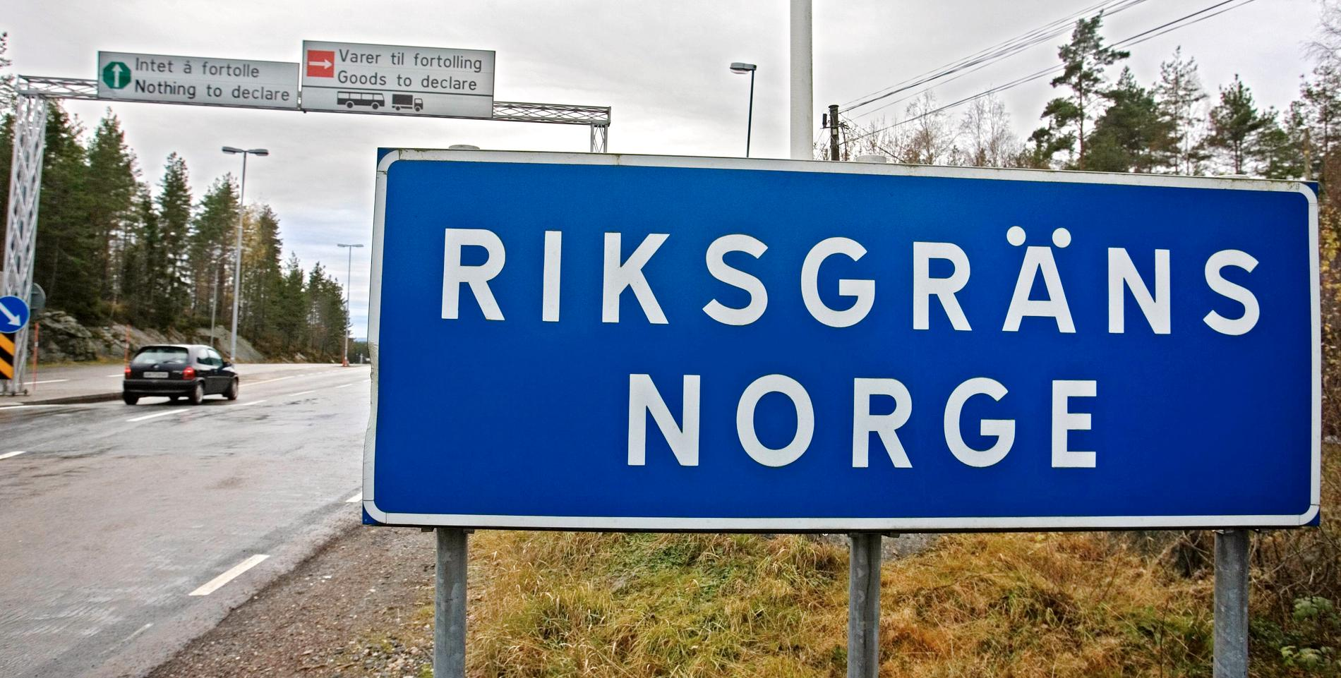 Riksgränsen till Norge.