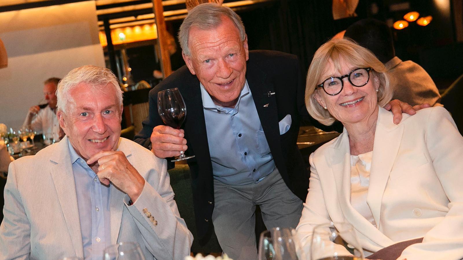 Anders Wiklöf med Jan och Ingalill Mosander.