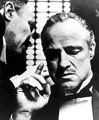 Marlon Brando som don Vito Corleone i  Gudfadern .