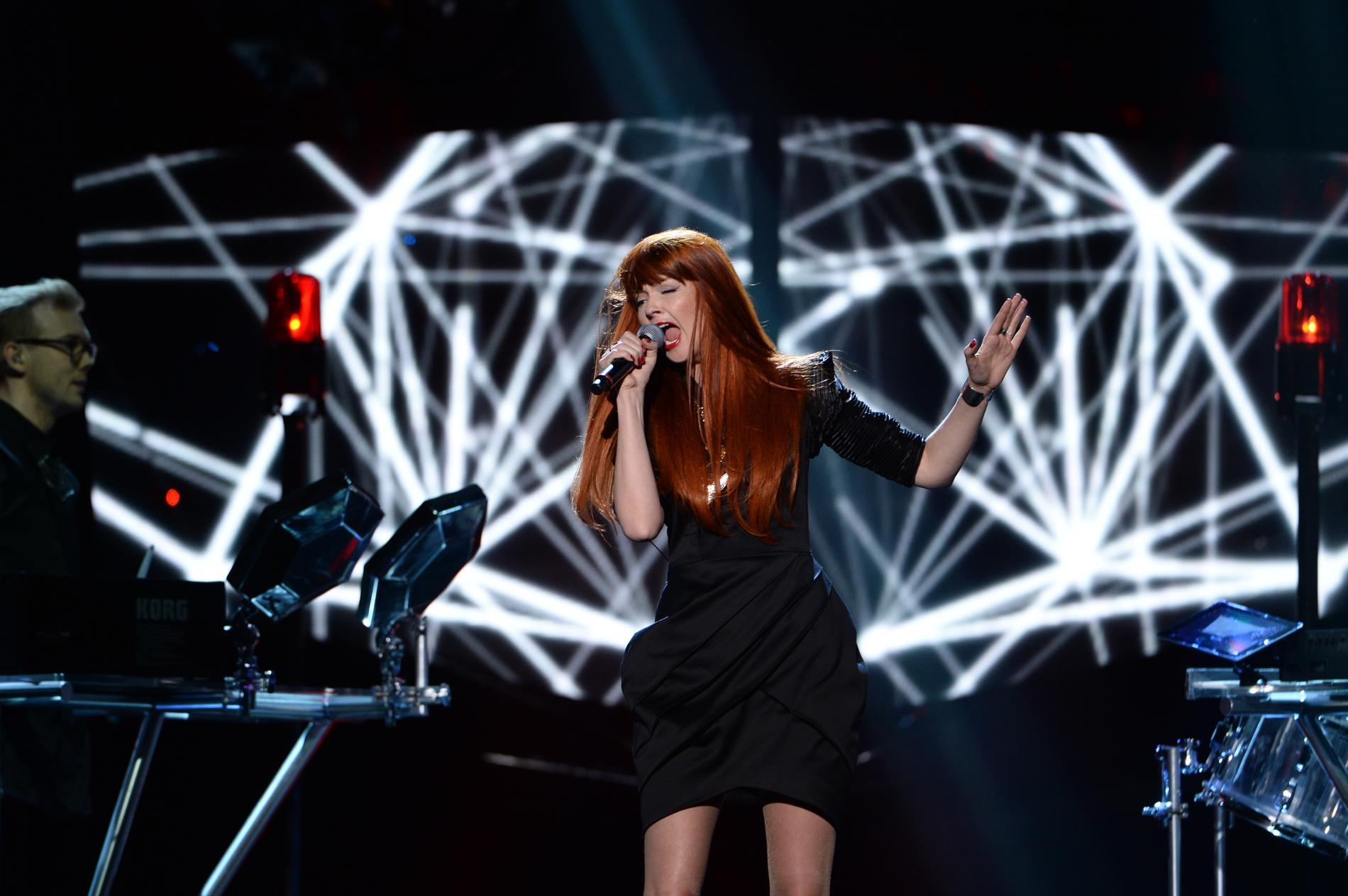 Anna Lidman sjöng i gruppen EKO i Melodifestivalen 2014