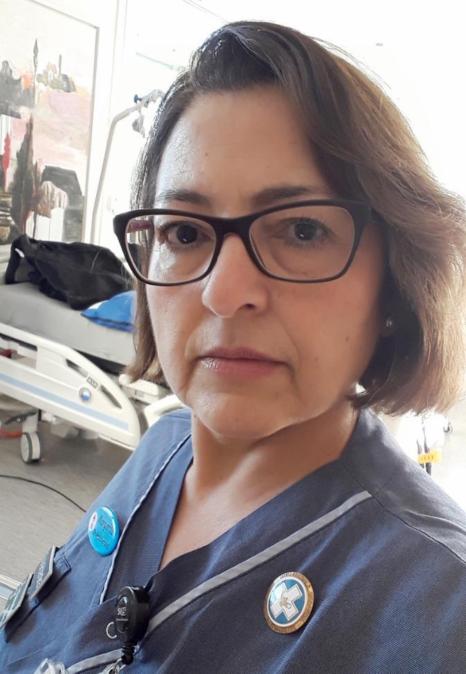 Margarita Villalobos, sjuksköterska på Sös