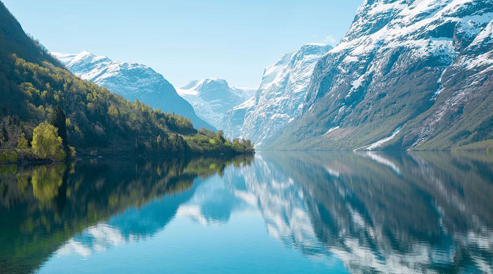 Loens vackra landskap.