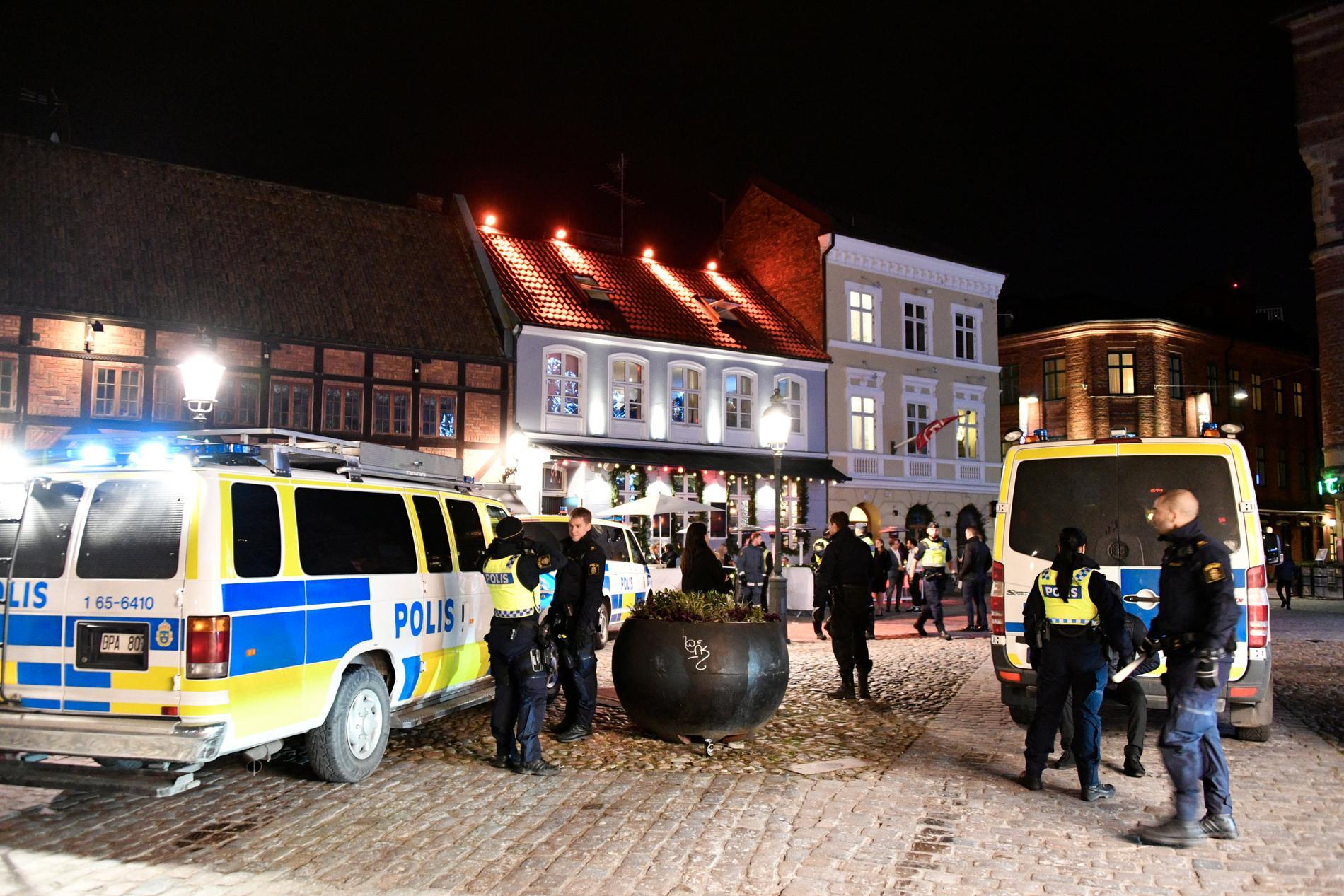 Polisinsats efter större bråk i Malmö